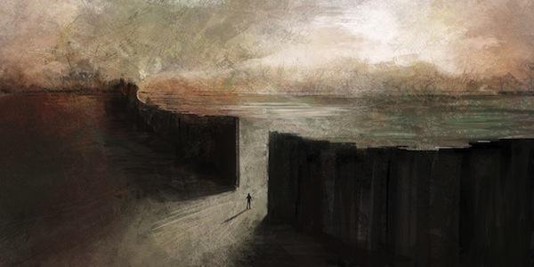 The-Black-Wall-impressionist-art-referenced-from-Gaza-Strip-barrier-by-Eleni-Tsami-planewalkdotnet